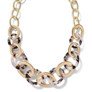 Banana Republic Gold and Tortise Shell Necklace